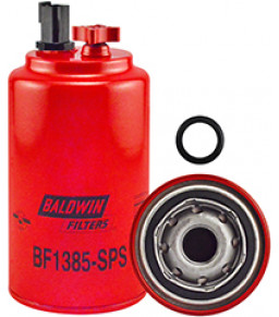 BF1385-SPS Baldwin Heavy Duty Fuel/Water Separator Spin-on with Drain, Sensor Port and Reusable Sensor