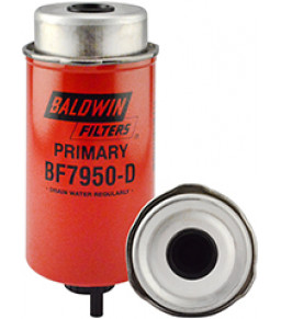 BF7950-D Baldwin Heavy Duty Primary Fuel/Water Separator Element with Removable Drain
