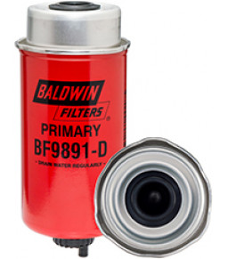 BF9891-D Baldwin Heavy Duty Primary Fuel Element with Drain